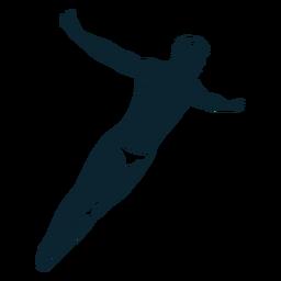 Nadador masculino personaje blanco y negro
