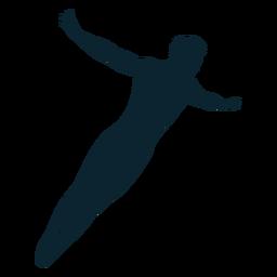 Silueta de nadador masculino