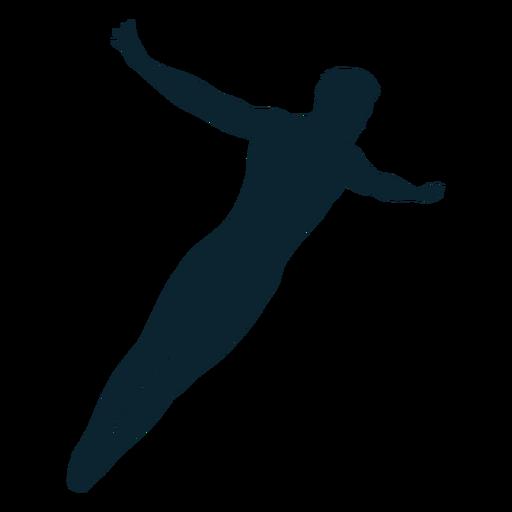Silhueta de nadador masculino