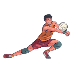Male volleyball player character