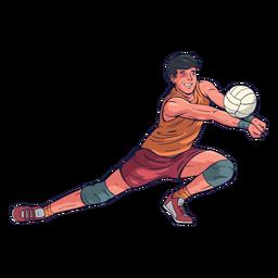 Personaje de jugador de voleibol masculino