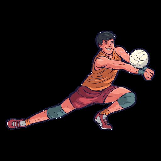 Personagem de jogador de vôlei masculino Transparent PNG