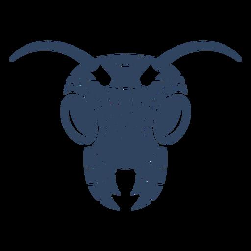 Mandala de formiga azul