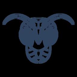 Mandala ant head stroke