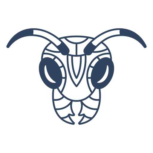 Traço de cabeça de formiga mandala