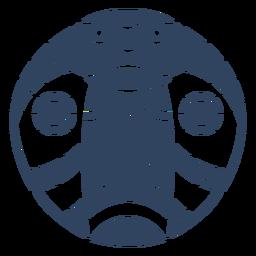 Mandala cobra cabeza azul