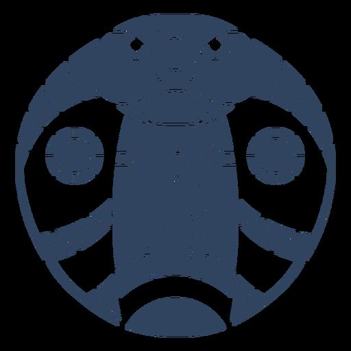 Mandala cobra head blue
