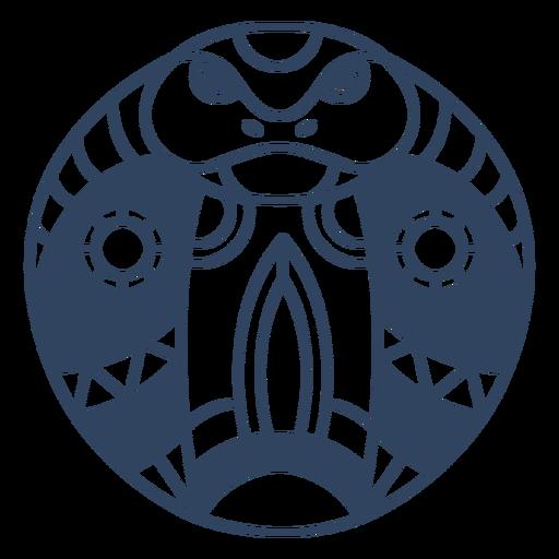 Trazo de cabeza de mandala cobra