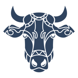 Mandala cow head blue