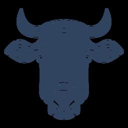 Mandala vaca cabeça azul