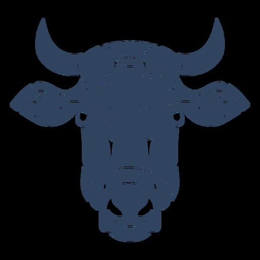 Mandala cabeza de vaca azul