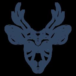Trazo de cabeza de ciervo Mandala