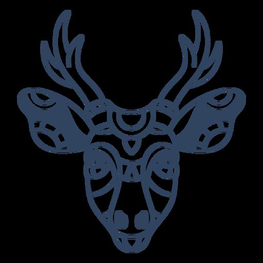 Curso de cabeça de veado mandala Transparent PNG