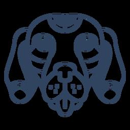 Trazo de cabeza de perro Mandala