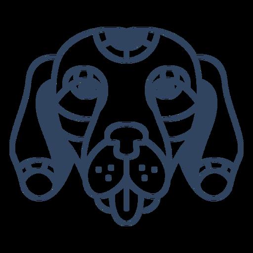 Curso de cabeça de cachorro mandala Transparent PNG