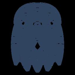 Mandala eagle head blue