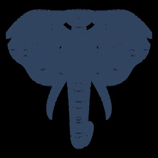 Mandala cabeça de elefante azul