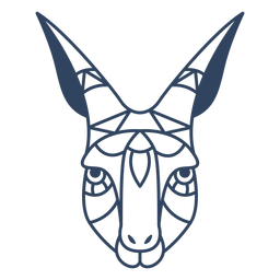 Mandala gazelle head stroke