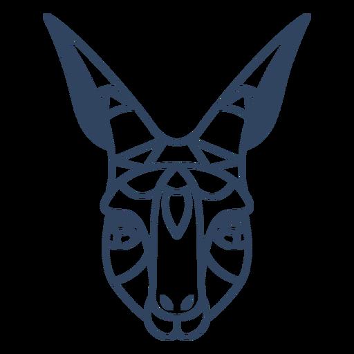 Curso de cabeça de gazela mandala Transparent PNG