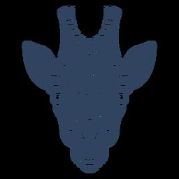 Mandala cabeza de jirafa azul