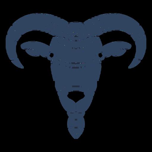 Mandala goat head blue