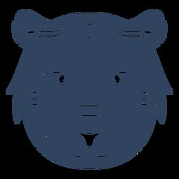 Mandala cabeza de león azul