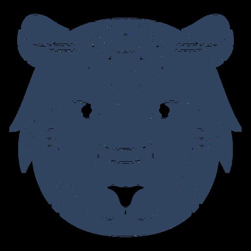 Mandala lion head blue