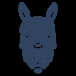 Mandala llama head blue