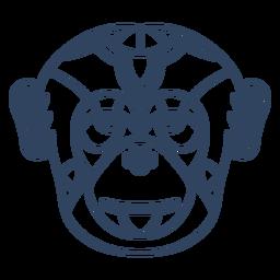 Trazo de cabeza de mono Mandala