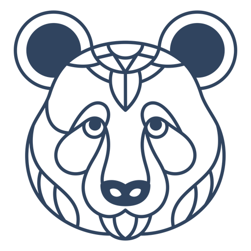 Curso de cabeça de mandala panda Transparent PNG