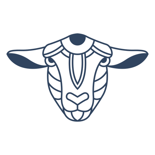 Trazo de cabeza de oveja Mandala