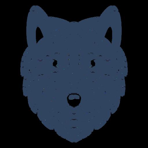 Mandala wolf head blue