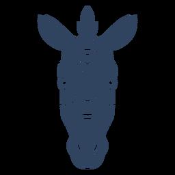 Cabeza de cebra Mandala azul