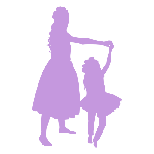 Mother and daughter dancing silhouette Transparent PNG