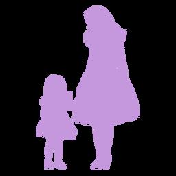 Silueta de madre e hija