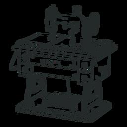 Dibujado a mano vieja máquina de coser
