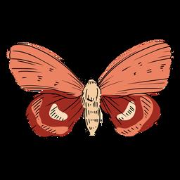 Ilustración de mariposa rosa