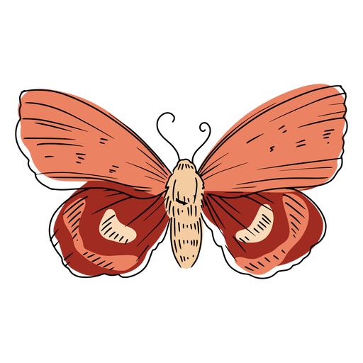 Pink butterfly illustration Transparent PNG
