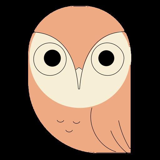 Búho rosado plano Transparent PNG