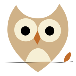 Pointy ears owl flat