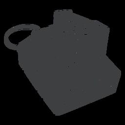 Câmera Polaroid preta