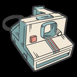 Dibujado a mano cámara polaroid