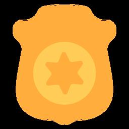Placa de policía placa plana