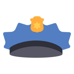 Police cap flat