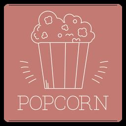 Popcorn label line