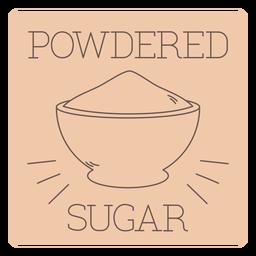 Powdered sugar label line