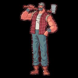 Proud lumberjack character