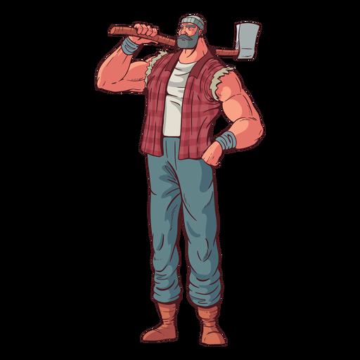 Orgulloso personaje de leñador Transparent PNG