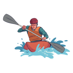 Personagem de rafting
