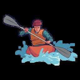Personaje de rafting